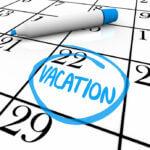 Calendar - Vacation Day Circled